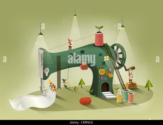 Sewing Machine - Stock Image