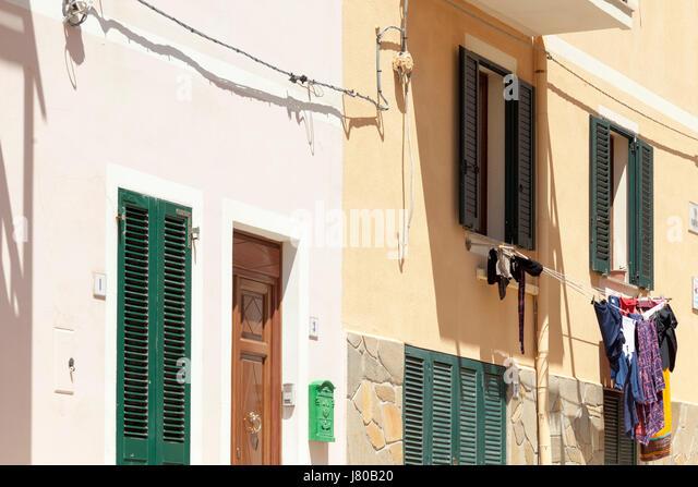 Stintino, Sardinia. Street scenes - Stock Image