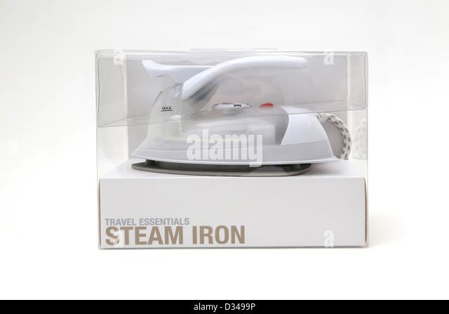 Travel Iron In Box - Stock-Bilder