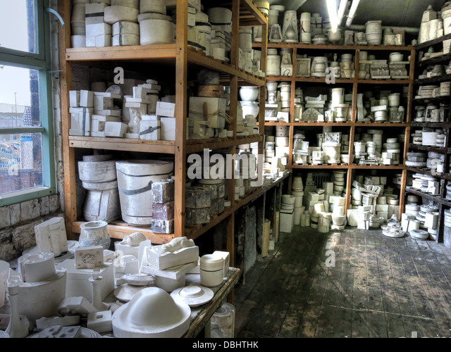 Image from Longton Stoke-On-Trent Great Britain showing potteries heritage at the Gladstone Pottery Museum - Stock Image