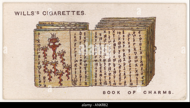 Batak Charm Book - Stock Image