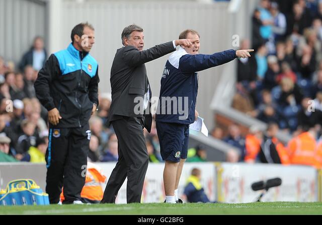 Blackburn Rovers Assistant Manager Neil Mcdonald Left