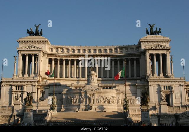 Rome. Monument to Vittorio Emmanuel II (Monumento Nazionale a Vittorio Emanuele II) or Altare Della Patria. - Stock Image