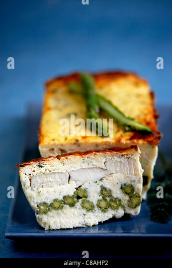 Fish and green bean terrine - Stock Image