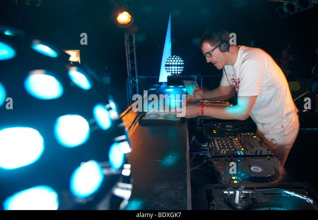 Techno Nature One Festival 2009, DJ Dr. Motte, Kastellaun, Rhineland-Palatinate, Germany, Europe - Stock-Bilder