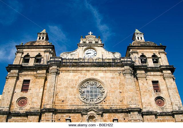 Iglesia de San Pedro Claver, Cartagena de Indias, Colombia - Stock Image