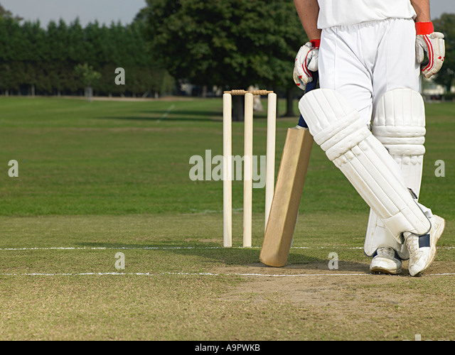 Cricketer - Stock Image