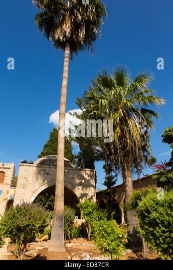 Courtyard of Ayia Napa Monastery, Cyprus - Stock Image