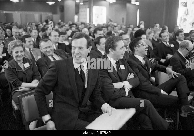 Bruce Morrow, better known as Cousin Brucie, at an awards ceremony with fellow WABC radio hosts Ron Lundy and Chuck - Stock Image