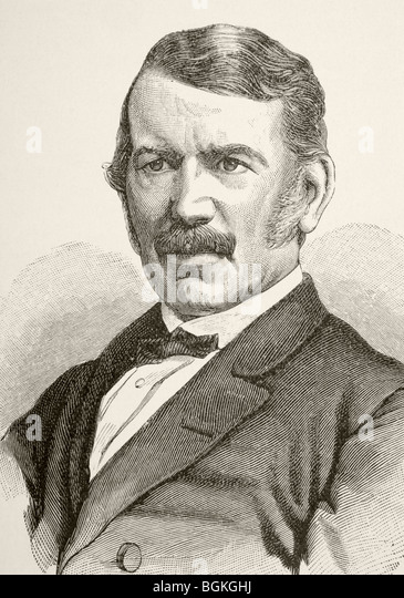 David Livingstone, 1813 to 1873. Scottish missionary and explorer. - Stock Image