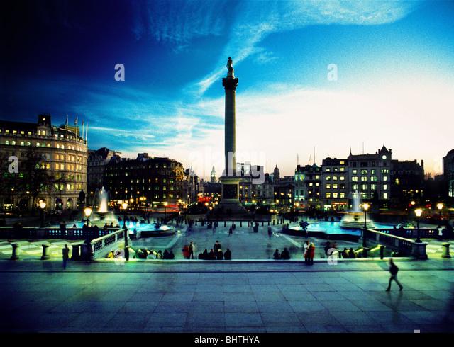Nelson's Column, Trafalgar Square, London - Stock Image