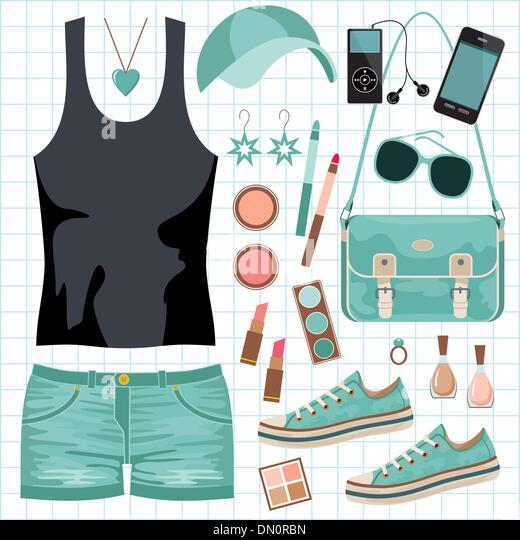 Youth fashionable set - Stock Image