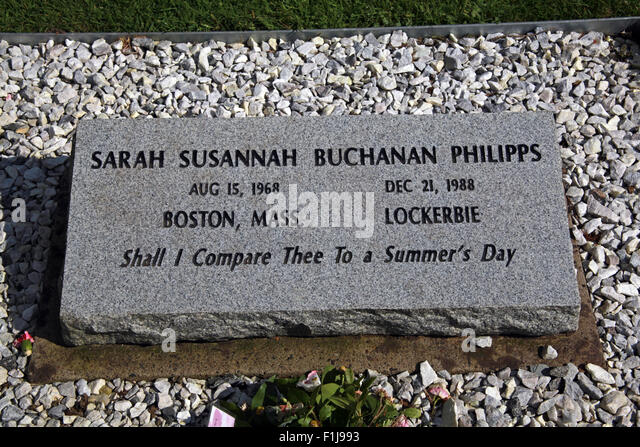 Lockerbie PanAm103 Memorial Sarah Philipps,Scotland - Stock Image