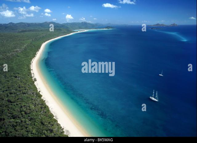White Haven beach, Whitsunday Island, Queensland, Australia, Pacific - Stock Image