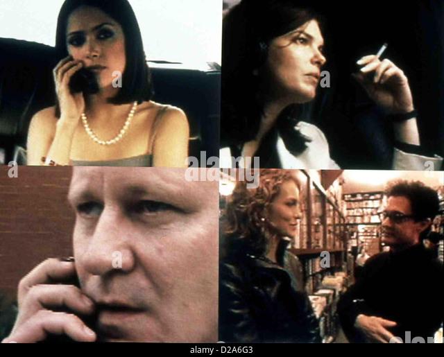 Time Code  Time Code  Salma Hayek (lo), Jeanne Tripplehorn (ro), Stellan Skarsgard (lu), Saffron Burrows und Kyle - Stock Image