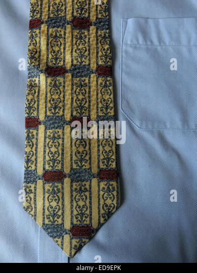 Interesting vintage Tierack Royal Academy style, male neckware in silk - Stock Image