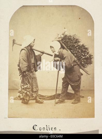 Japanese labourers - Stock-Bilder