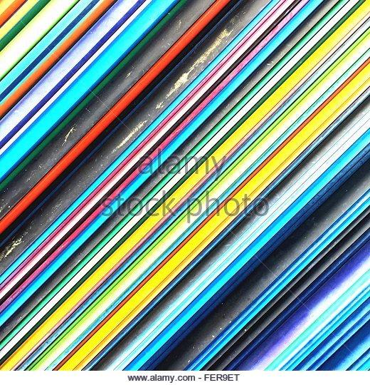 Full Frame Shot Of Multi Colored Pencils - Stock-Bilder
