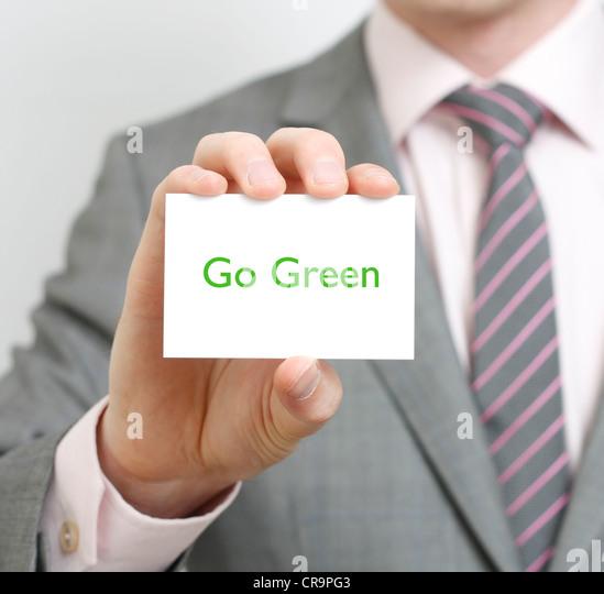 Go green - Stock Image