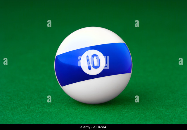 Number 10 Pool Ball - Stock Image