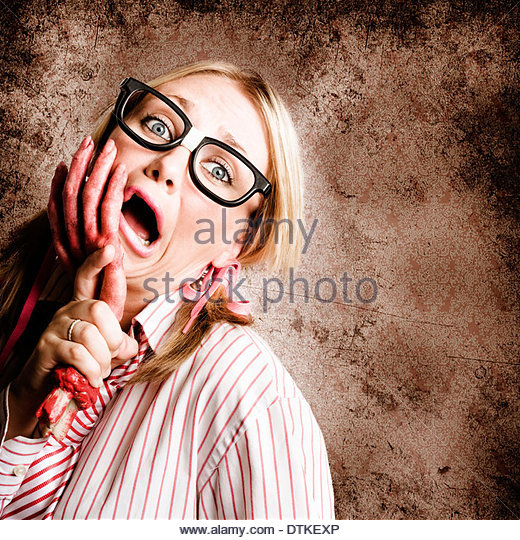 Exhausted And Stressed Woman Going Crazy At Work When Under The Attack Of Frustration - Stock Image