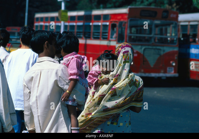 Indische Familie, Bombay Indien - Stock-Bilder