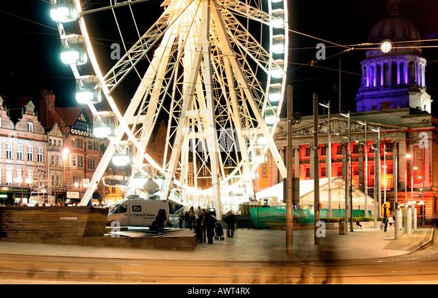 Nottingham Eye with Nottinghams Council House in the background. The Nottingham Eye market Square Nottingham UK - Stock Image