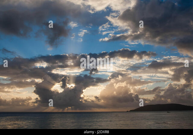 CloudySunset0650   - Stock Image