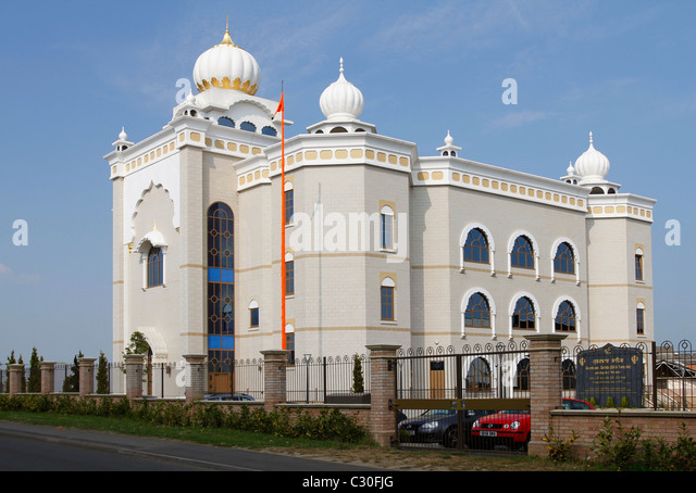 Gurdwara Sahib - Sikh temple - Leamington and Warwick - Stock Image
