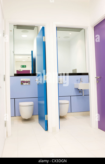 Toilet cubicle stock photos toilet cubicle stock images for Office building bathroom design