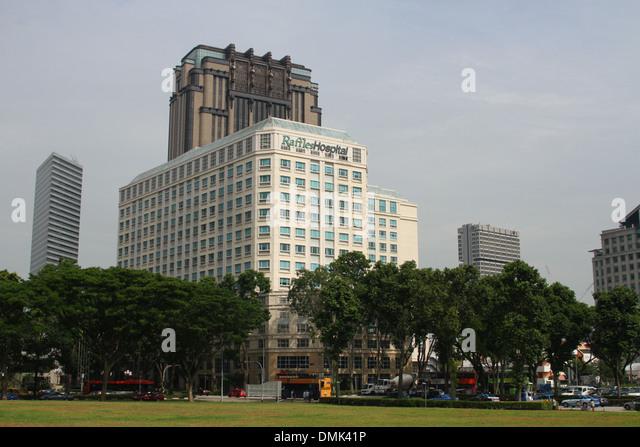 Raffles Hospital. Singapore. - Stock Image