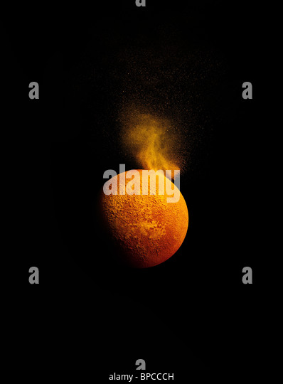 A simulation of a solar flare - Stock Image