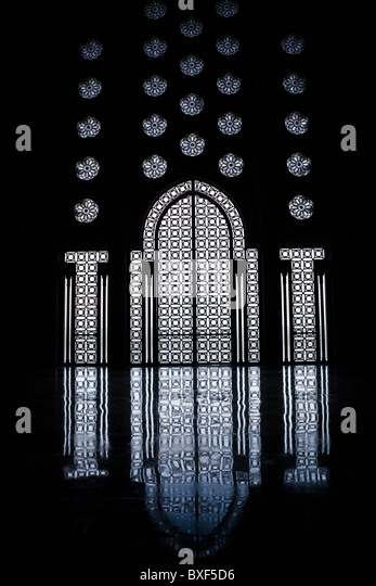 Morocco. Casablanca. Interior of the Hassan II Mosque - Stock Image