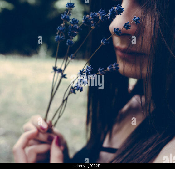 Creative artistic film photo of beautiful woman - Stock Image