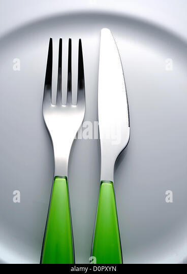 fork knife - Stock Image