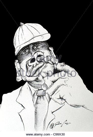 Nose Digger drill nose cartoon Baseball Cap Comic cartoon Comics cartoons - Stock Image