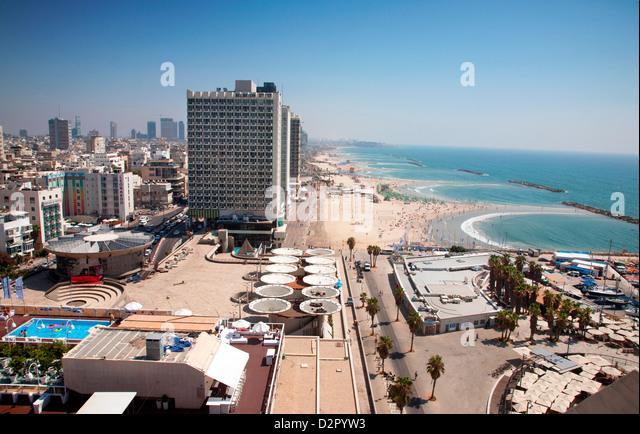 Herod Hotel, Gordon Beach, Hayarkon Street, Tel Aviv, Israel, Middle East - Stock Image