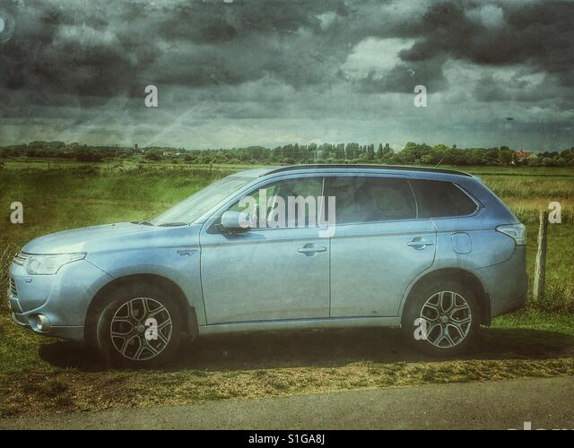 Hybrid vehicle - Stock Image
