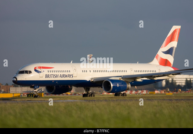 British Airways Boeing 757-236 at London Heathrow airport. - Stock Image