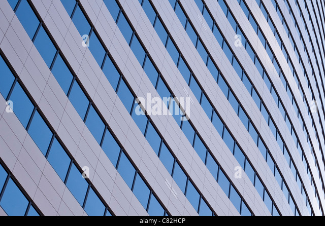 Downtown office buildings focus on glass windows Seattle Washington State USA - Stock-Bilder