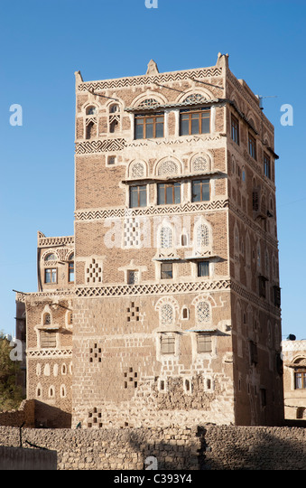 Sanaa building stock photos sanaa building stock images for Architecture yemen