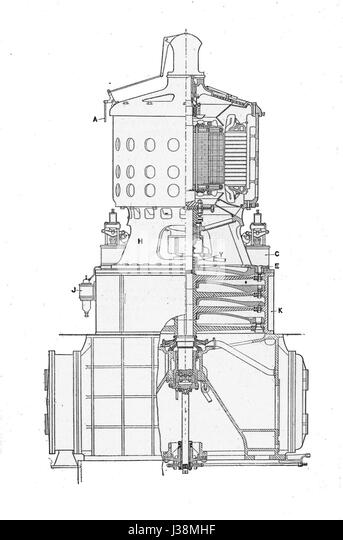 steam turbine drawing stock photos  u0026 steam turbine drawing stock images