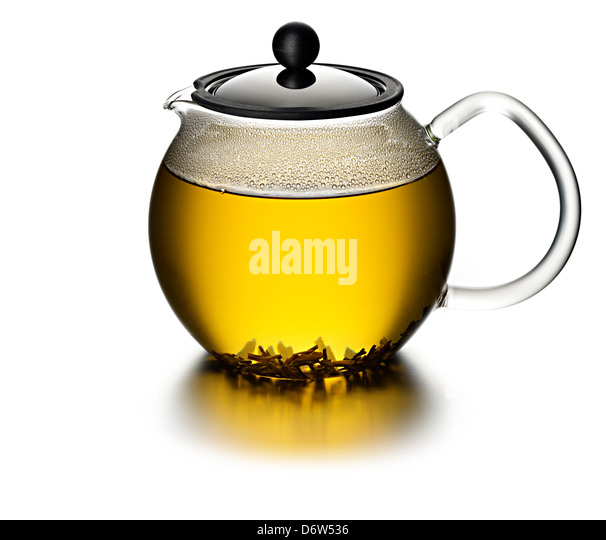 tea infusion glass - Stock Image