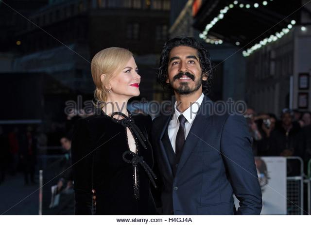 epaselect epa05582831 Australian actress Nicole Kidman (L) and British actor Dev Patel arrive for the premiere of - Stock Image