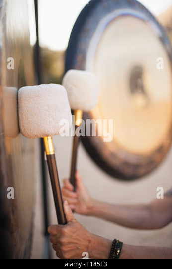 Gongs - Stock Image