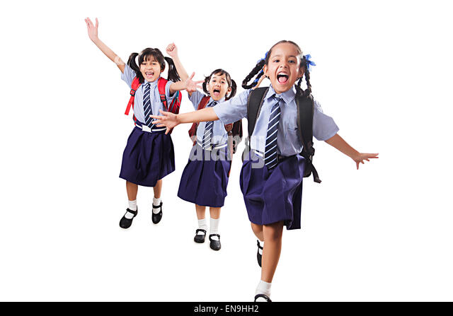 Kids Walking Into School Cut Out Stock Images & Pictures ...