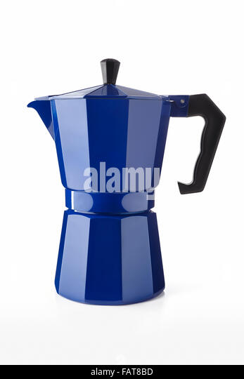 Blue Italian Coffee Maker : Moka Coffee Stock Photos & Moka Coffee Stock Images - Alamy