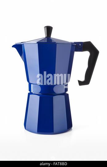 Blue Italian Coffee Maker : Moka Coffee Stock Photos & Moka Coffee Stock Images - Alamy