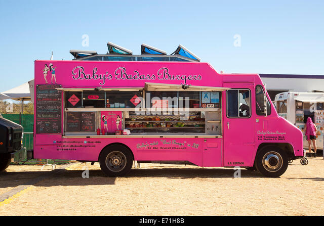 Food truck, Malibu Chili Cook-Off and Fair, Malibu, Los Angeles County, California, United States of America - Stock Image
