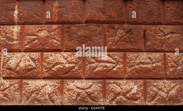 Decorating the house wall - Stock Image